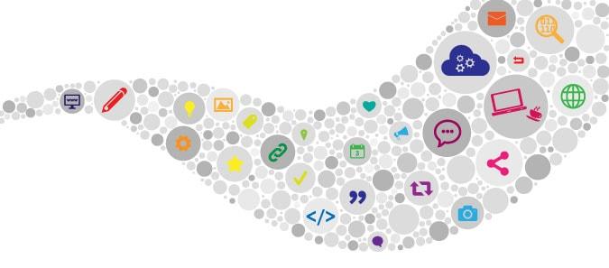 una ilustración de digitalismo y transmisión