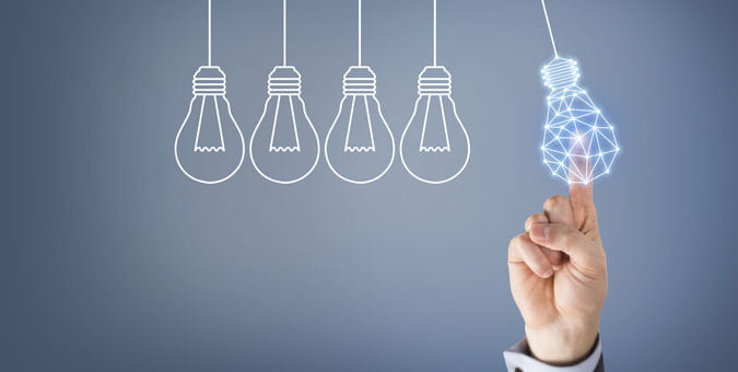 Five light bulbs representing five ways to optimize salesforce