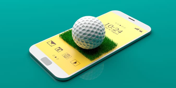 virtual golf on a smartphone