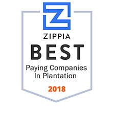 ZIPPA Best paying compnaies in plantation