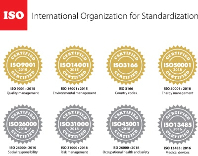 ISO industry compliance standardization seals