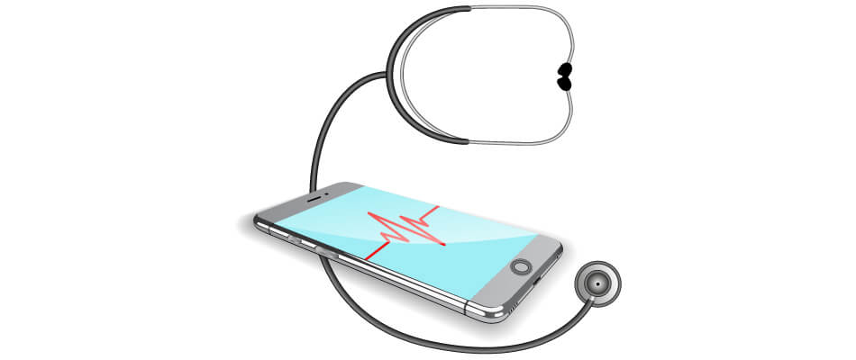 mobile device and stethoscope online