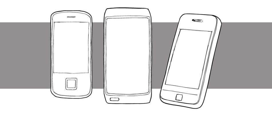 Drawing of mobile device