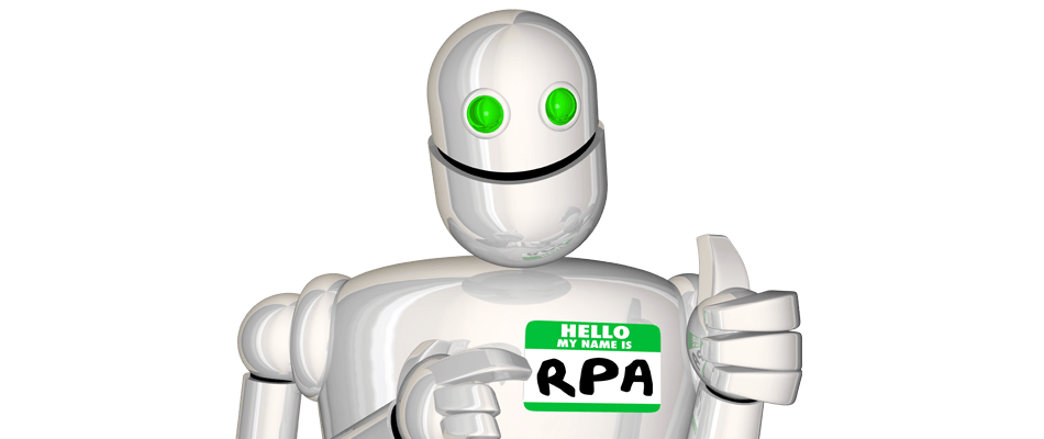 Robot with RPA name tag