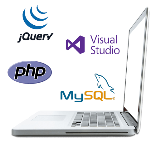 mobile app and technology Github jquery, Visual studio, PHP, MySQL