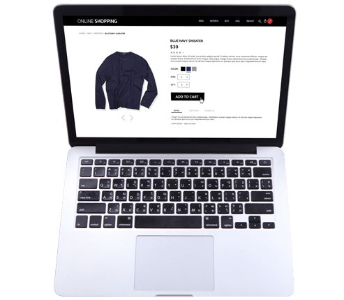 ecommerce website product page of a sweater