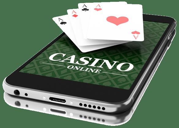 A man gambling at a casino game