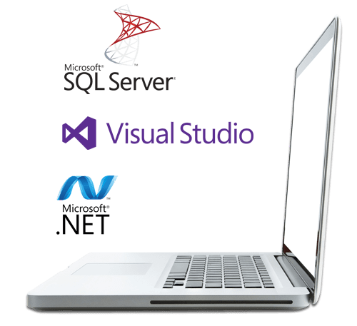microsoft sql server, microsoft .net, and Visual studio