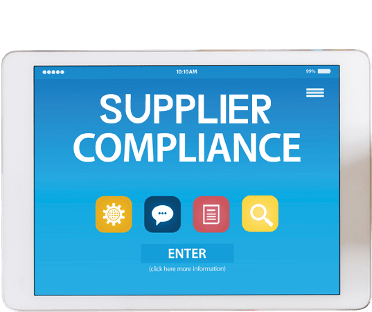 Supplier Compliance technology section