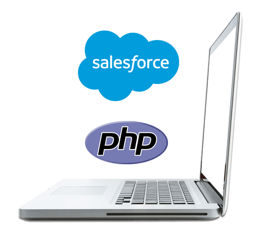 sales force PHP with laptop