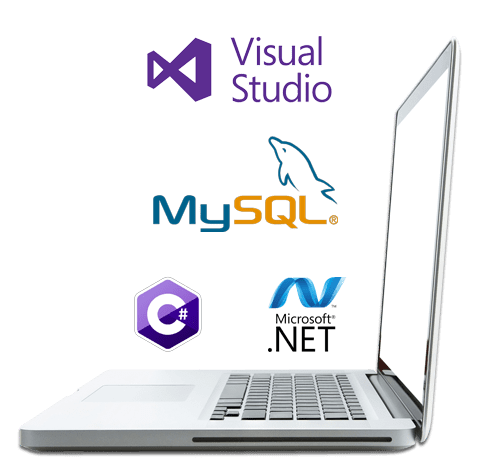 Laptop having technology MySql, Visual studio
