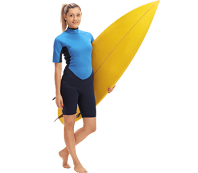 A girl with SurfBoard