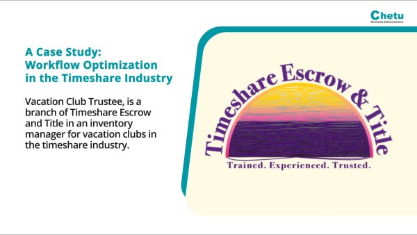 WORKFLOW OPTIMIZATION IN THE TIMESHARE INDUSTRY