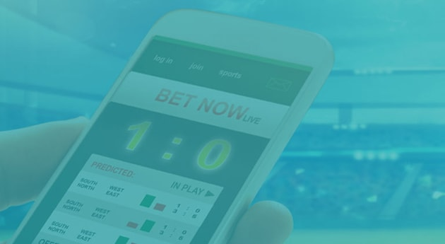 Man Running betting app on his mobile