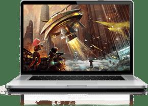 Laptop Running Game
