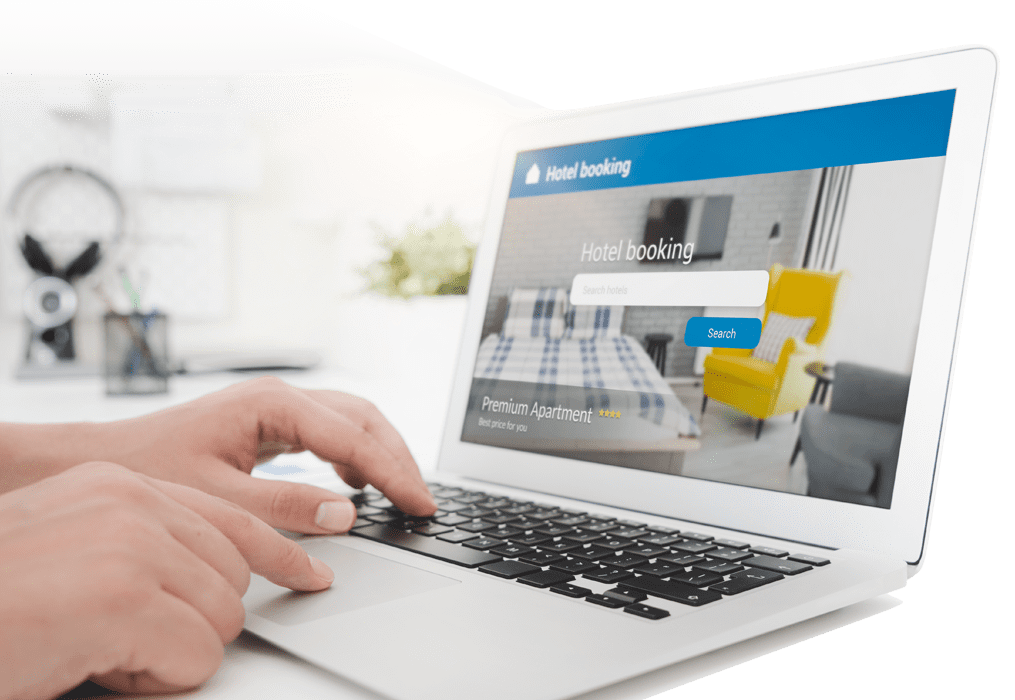 e-commerce software with laptop