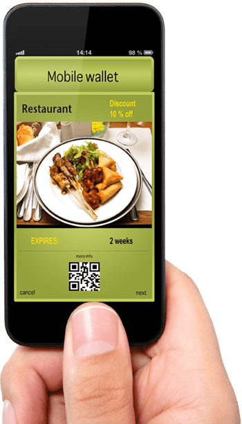 Mobile with image of resturant