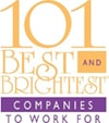 logo of Chetu's recognition as part of the 101 best and brightest companies to work for