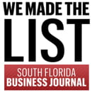 we made the list south florida business journal