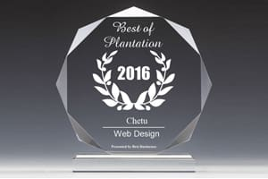 Chetu Receives 2016 Best Businesses Of Plantation Award For Web Design
