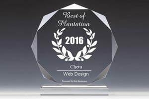 Chetu recibe 2016 los mejores negocios del premio de plantación por diseño web
