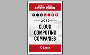 Chetu Ranked #2 on the SFBJ Cloud Computing Companies List 2019