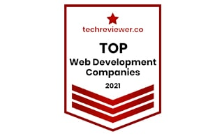 Chetu recognized as a top web development company in india 2021 by techreviewer.co
