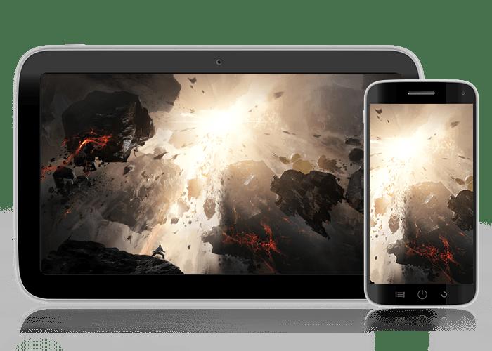 desktop and tablet